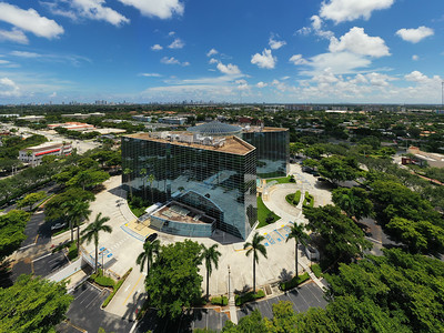 Aerial photo of the Regus Building Florida Hollywood Presidential Circle