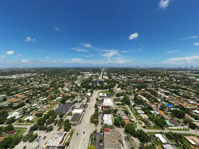 Aerial photo Hollywood FL USA facing eastward