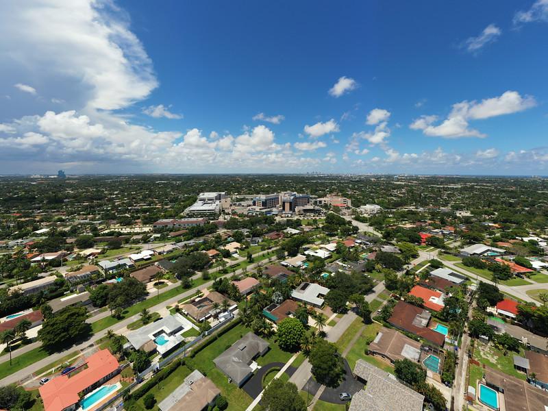 Aerial photo Memorial Regional Hospital Hollywood FL USA