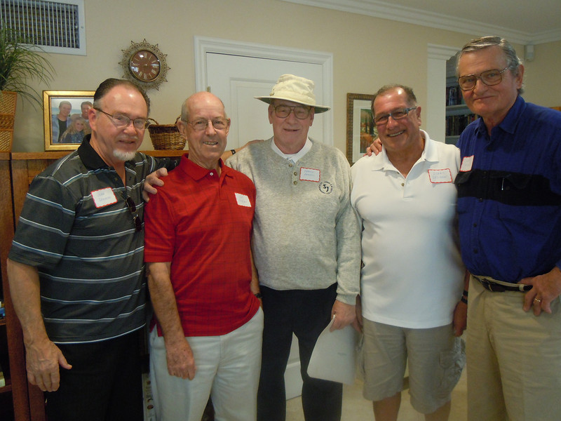 Seminarians Gathering at Cottons Home: John Gremer, Joe Phelan, Bernie Brackel, Isaac Guzman and Bob Ridley