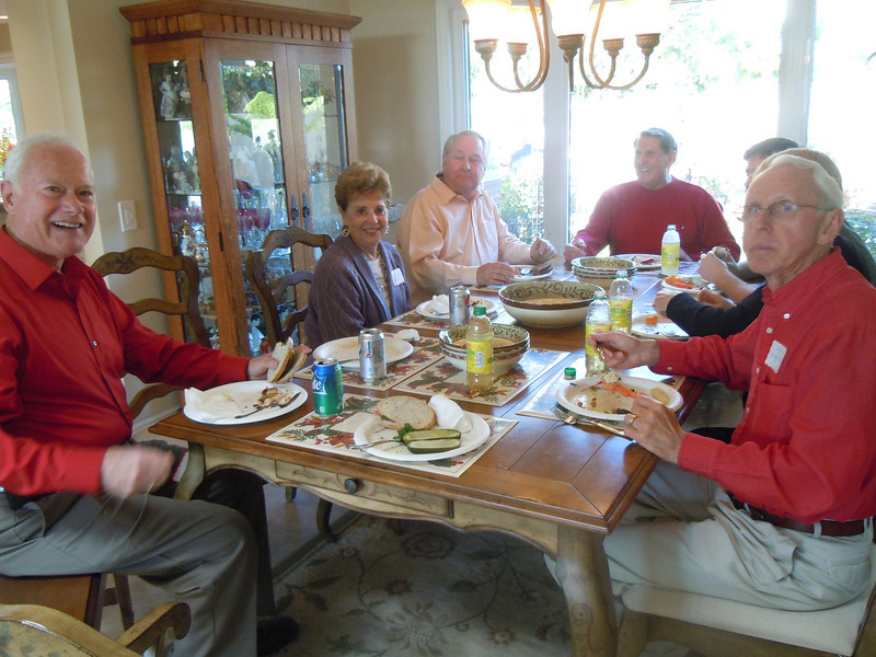 Seminarians Gathering at Cottons Home with Jerry O' Donnell, Elizabeth Halloran, Joe Whalling, Tom Cotton and  Bob Bochniarz