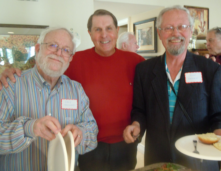 Seminarians Gathering at Cottons Home: Dave Savignac, Tom Cotton and Don Bruhn