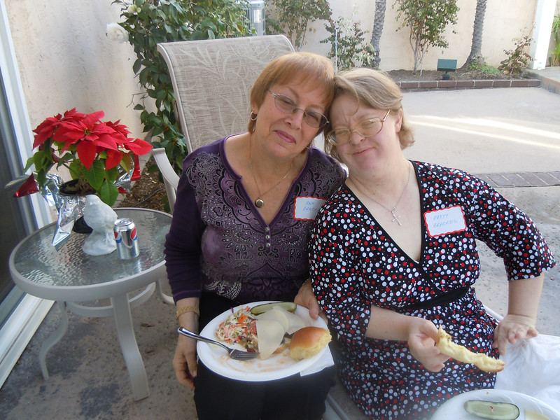 Seminarians Gathering at Cottons Home:  Ann and Patty Brackel