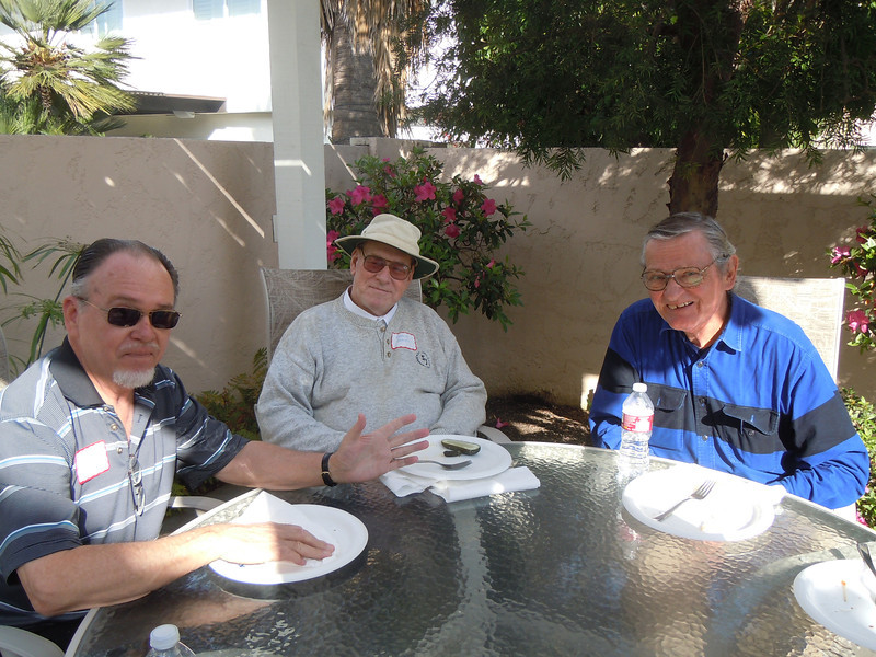 Seminarians Gathering at Cottons Home: John Gremer, Bernie Brackel and Bob Ridley