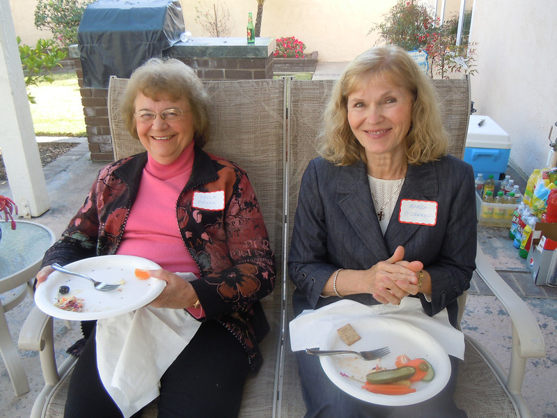 Seminarians Gathering at Cottons Home: Della Bruhn and Marge O' Donnell