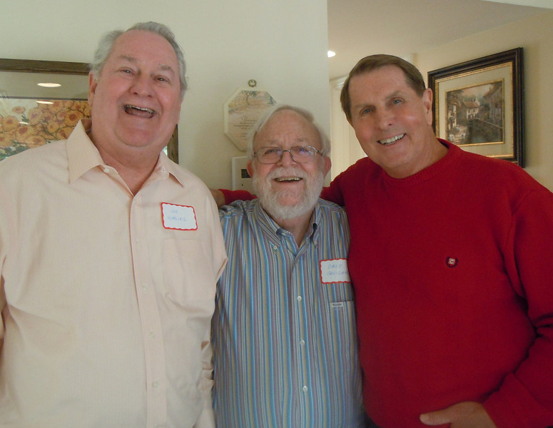 Luncheon for Sem Alumni at Tom & Betty Cotton's Home on 2/8/14: Joe Whaling, Dave Savignac and Tom Cotton