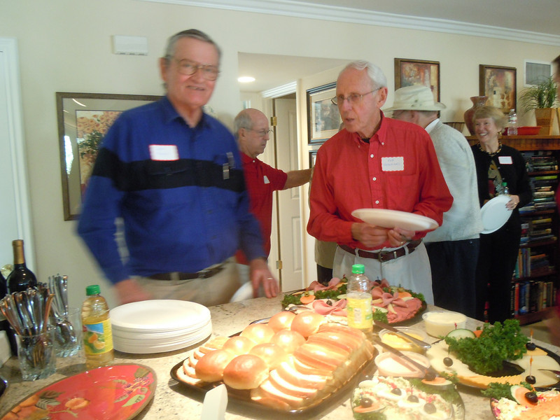 Luncheon for Sem Alumni at Tom & Betty Cotton's Home on 2/8/14:  Bob Ridley and Bob Bochniarz