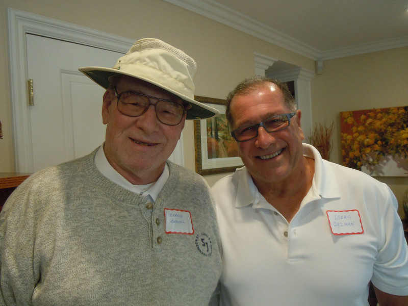 Luncheon for Sem Alumni at Tom & Betty Cotton's Home on 2/8/14:  Bernie Brackel and Isaac Guzman