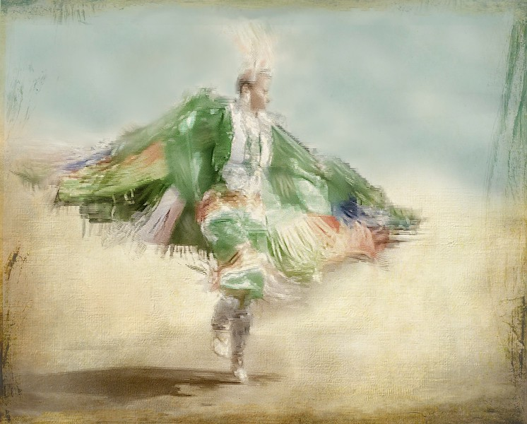 Seminole Woman Green Cape