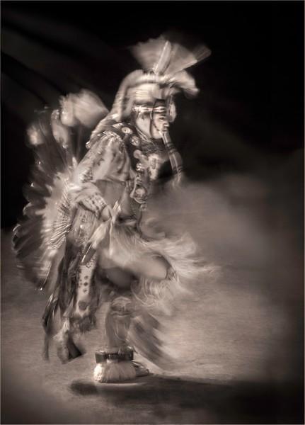 Seminole Dancer in Sepia