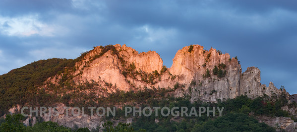 Seneca Rocks in Sunset Light
