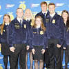 "Submitted photo |<br /> Officers of the McAlester FFA chapter participated in the 2017 Oklahoma FFA Chapter Officer Leadership Training Conference Aug. 29 at the Southeast Expo Center in McAlester. The eight state FFA officers planned and conducted this year's conference based on the theme, ""Dare To Be Different."" Pictured with state FFA officers Cole Eschete southeast area vice president who is standing front row far left and Ridge Hughbanks, state president are McAlester FFA officers, Madison Lyars, president, Sydney Shelton, vice president, Moriyah Spruce, secretary, Makenna Spruce, treasurer, Lane Verner, reporter, Abigail Nail, sentinel and Advisor Micah Patterson."