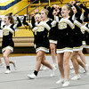 Kevin Harvison | Staff photo<br /> McAlester High School Cheerleading squad performs at Bob Brumley Gymnasium Tuesday night preparing for 2017 Regional Cheer Championships Saturday in Bixby.