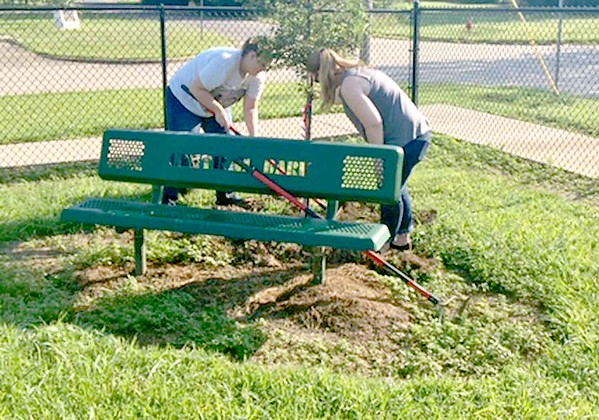 SUBMITTED PHOTO | MEGAN WATERS<br /> National Planting Day took place over the weekend. Volunteers with Pride In McAlester planted 7 Lace Bark Elm trees at Central Bark Dog Park.