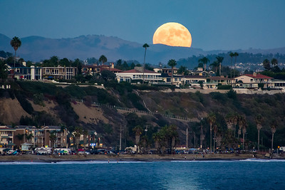 Blue Moon over Capistrano Beach, CA