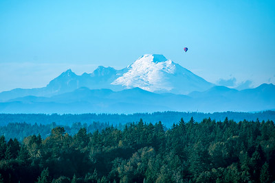 Balloon Over Mt. Baker, WA