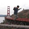 Jimmy jumping the Golden Gate Bridge