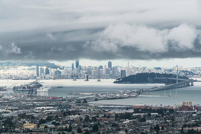 Fog shrouds SF and the Bay