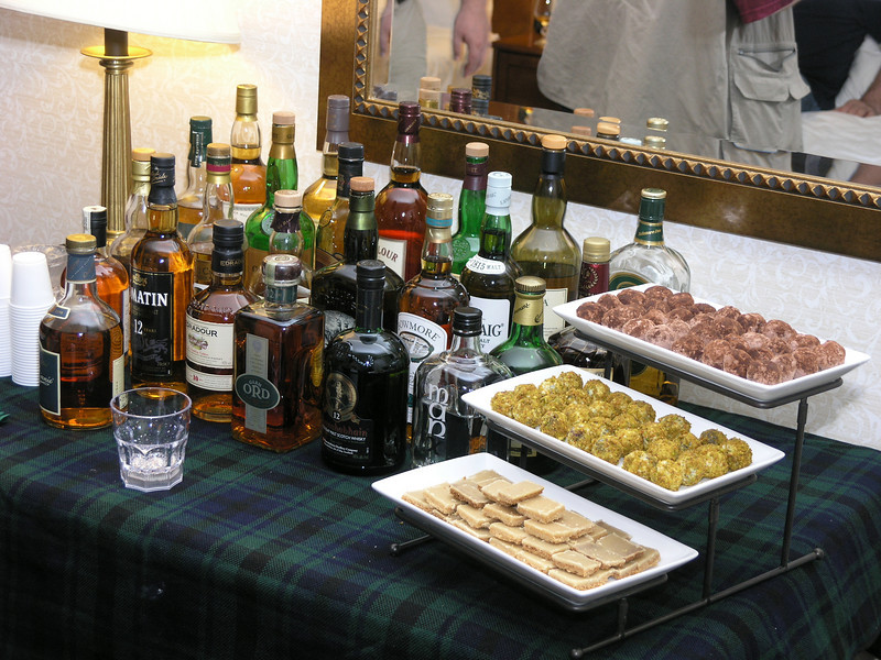 Covert Beach's Single Malt Tasting on Friday evening
