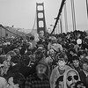 Tom joins the throng on GG Bridge.