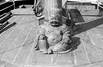 Buddha onboard the Chinese Junk at Gashouse cove - SF 1937