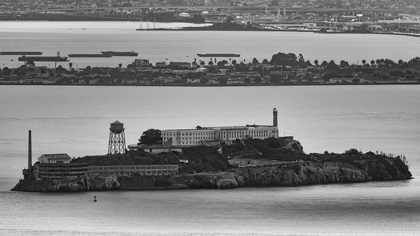 Alcatraz just after sunrise, captured from Hawk Hill using the @getolympus OM-D E-M1 MKii and the 300mm f/4.0 Pro lens #capturingsanfrancisco #alcatraz #abc7now #sunrise