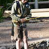 Hundreds participated in the Kids Fishing Derby, at the Santa Fe River Park from Don Gaspar upstream to he Old Santa Fe Trail for children ages 11 and under on Saturday June 4, 2016 7am to 12 noon. After noon on Saturday the river will be open fishing to those with a license through Sunday. The river was stocked with 500 rainbow trout and each child could keep a limit of five fish with prizes for the children catching the first 10-tagged fish. The New Mexico Department of Game and Fish and the City of Santa Fe sponsored the event in its 7th year. Clyde Mueller/The New Mexican