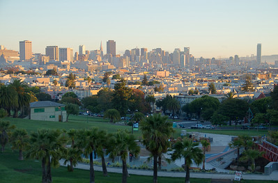 Sunrise at Dolores Park -- November 24, 2012