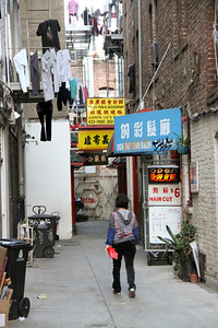 In the same block as Sam Wo's store, I discovered laundry!