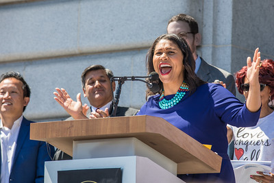 Supervisor London Breed Address the Rally
