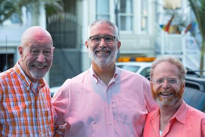 Richard, Ron, and Geoffrey Orange it Up