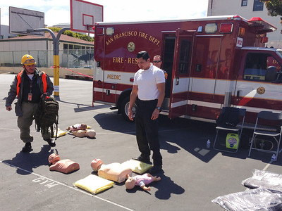 Victims on pavement await CPR