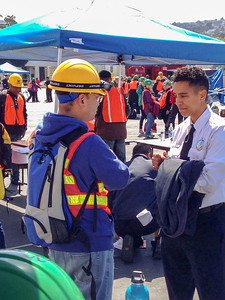 Staging section E's SFFD advisor Anna answers NERTy questions.