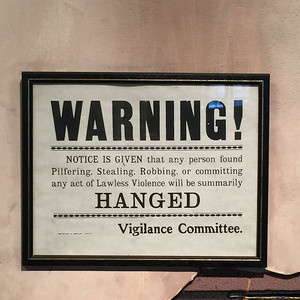 Warning from the Vigilance Committee