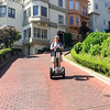 Geoff out in front on Lombard