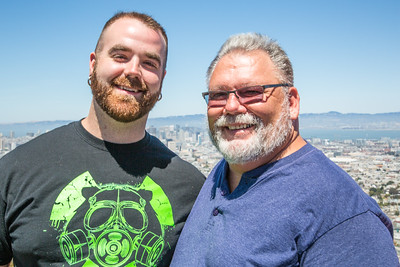 Cody and Terry at Twin Peaks with San Francisco in the background