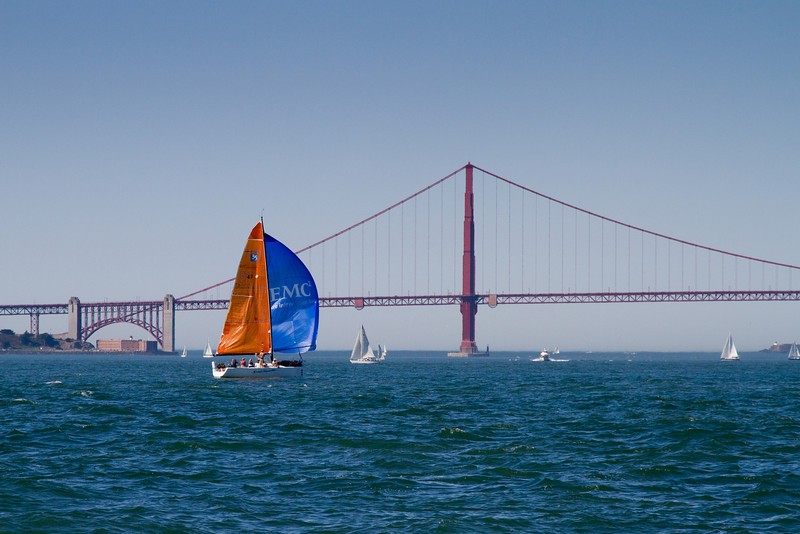 From a sailboat in the Bay