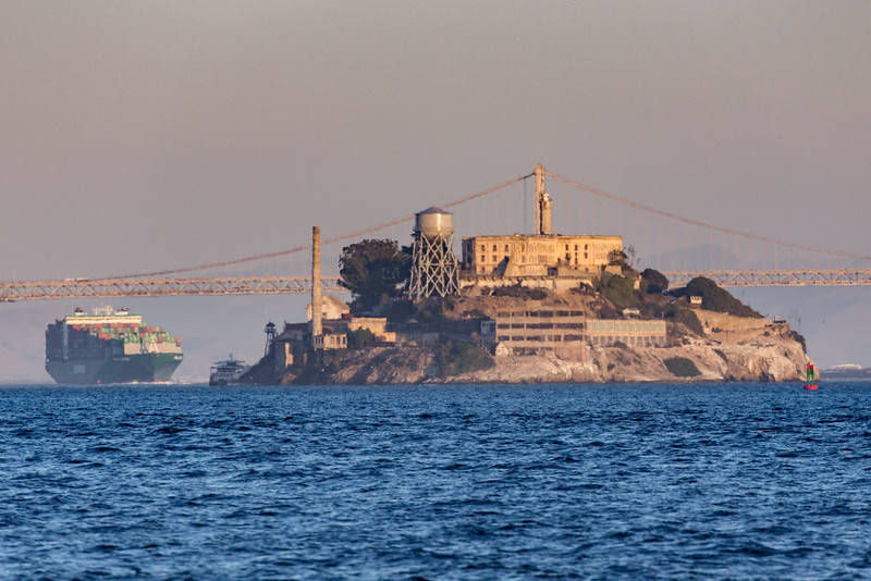 From Angel Island Ferry Sunset Cruise, Sept., 2015