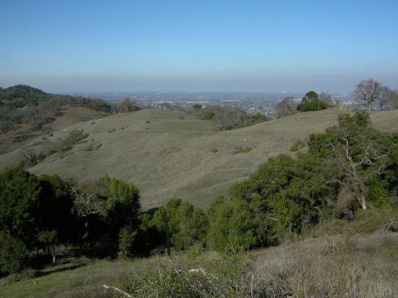 San Jose is only a few miles away as the crow flies<br /> <br /> That's what I love about this area -such great hiking only a few miles away from a major city