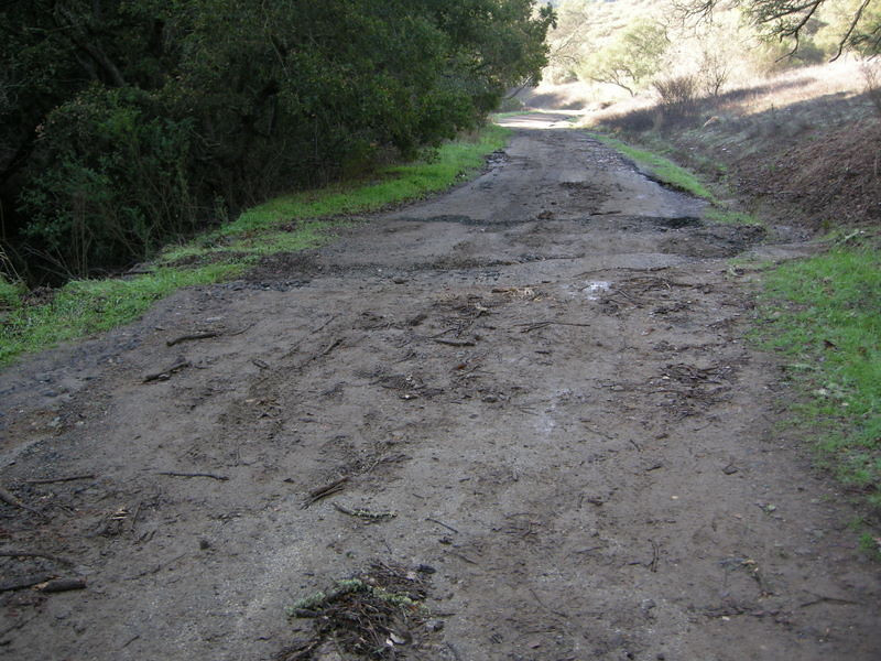 Washed out trail from last week's storms