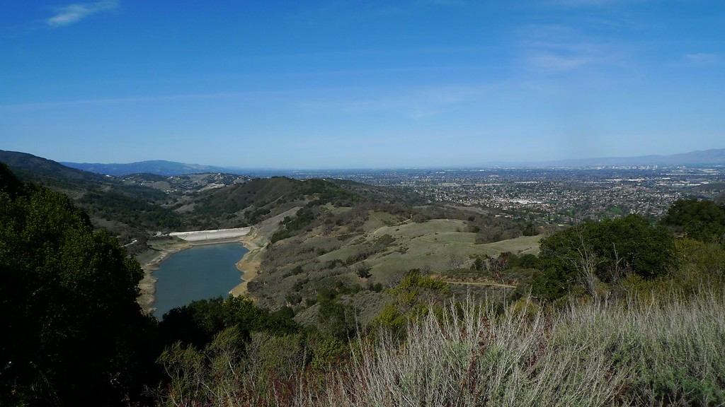 Guadalupe Reservoir (really low) and The north end of the park.