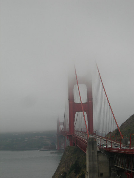 Crossed the Golden Gate in the fog