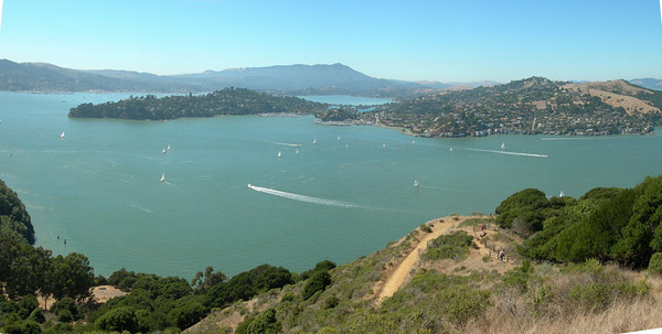 Pan from Mt Livermore summit on Angel Island