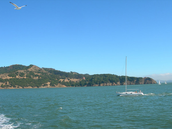 Looking back toward Angel Island