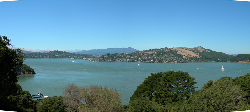 Looking down on the trail and back towards Tiburon