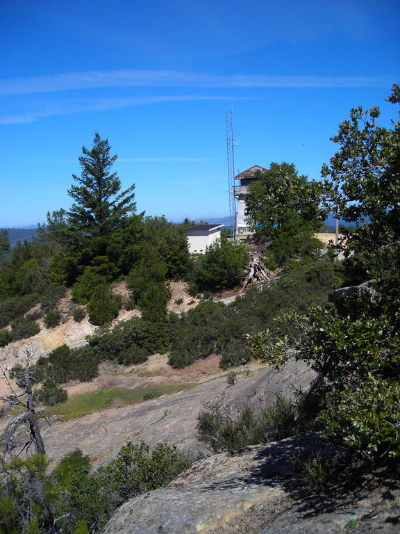 Old Fire lookout on Eagle Rock