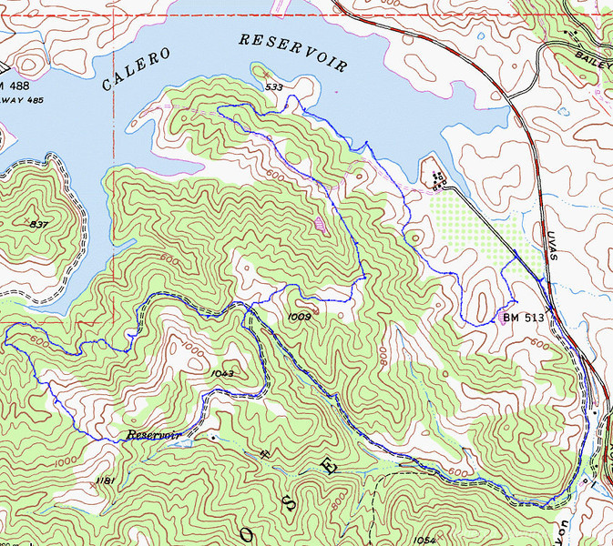 Map of my hike.