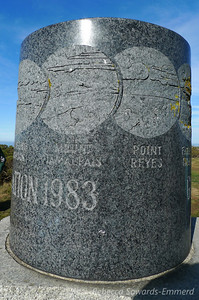 Really cool granite memorial - the cylinder has carvings of all the visible peaks and geographic features visible from the Discovery Site. cool!