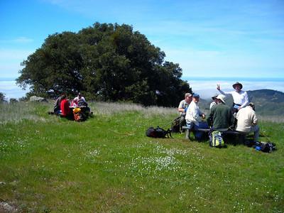 Lunch stop, just below the peak.
