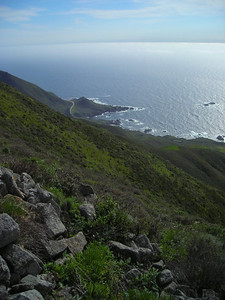 Looking south along the coast from the Bohemian Rhapsody Cache